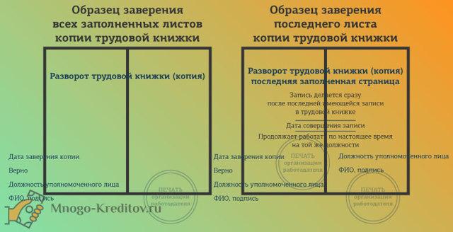Образец копии трудовой книжки: для чего нужна, как оформить, заверить для банка на получение кредита, срок действия