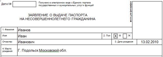 Образец заполнения анкеты на загранпаспорт старого образца на ребенка с инструкцией