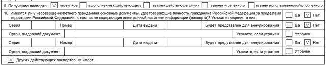 Правильное заполнение заявления на загранпаспорт нового образца детям до 18 лет